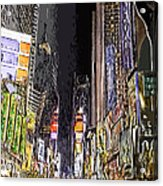 Times Square Abstract Acrylic Print