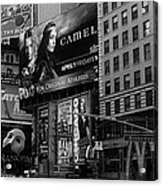 Times Square Black And White Acrylic Print