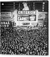 Times Square Election Crowds Acrylic Print