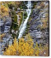 Timpanogos Waterfall In The Fall - Utah Acrylic Print