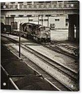Tinted Train Acrylic Print