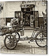 Tiny Biker Sepia Acrylic Print