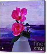 Tiny Rose Bouquet Acrylic Print