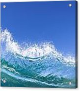 Tip Of A Breaking Wave Acrylic Print