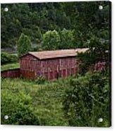 Tobacco Barn From Afar Acrylic Print