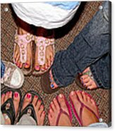 Toes In Acrylic Print