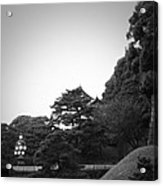 Tokyo Imperial Palace Acrylic Print by Naxart Studio