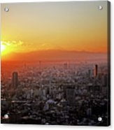 Tokyo Sunset Acrylic Print
