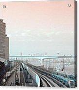 Tokyo Train Ride 3 Acrylic Print by Naxart Studio