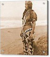 Tolowa Womans Primitive Dress Acrylic Print