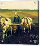 Tolstoy In The Ploughland Acrylic Print
