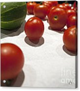 Tomato And Cucumber 2 Acrylic Print