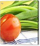 Tomato And Green Onions Acrylic Print