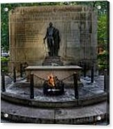 Tomb Of The Unknown Revolutionary War Soldier II - George Washington  Acrylic Print