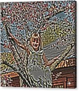 Tomboy In The Tree Acrylic Print