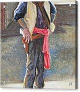 Tombstone Cowboy Acrylic Print