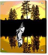 Amber Lake #4 Acrylic Print