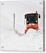 Tons Of Snow - Winter Road Clearance Acrylic Print by Matthias Hauser