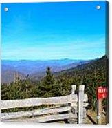 Top Of The Mountain In North Carolina Acrylic Print