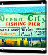 Topsail Island Old Sign Acrylic Print