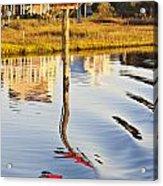 Topsail Sound Sunset Acrylic Print by Betsy Knapp