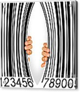 Torn Bar Code Acrylic Print by Carlos Caetano