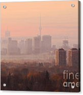 Toronto Foggy Sunrise Acrylic Print