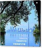 Toronto Harbour Poster Acrylic Print