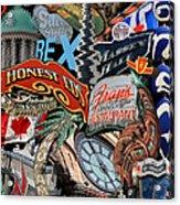 Toronto Pop Art Montage Acrylic Print