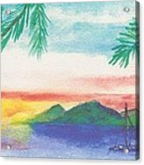 Tortola Sunset Acrylic Print