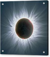 Total Solar Eclipse With Corona Acrylic Print