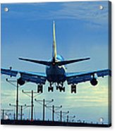 Touchdown In Blues Acrylic Print