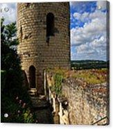 Tour Du Moulin At Chateau Chinon Acrylic Print