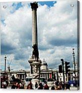Tourists At Trafalgar Square Acrylic Print