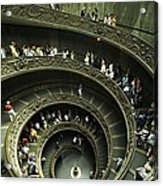 Tourists Descend The Double Spiral Acrylic Print
