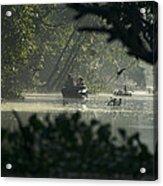 Tourists Exploring The Rain Forest Acrylic Print