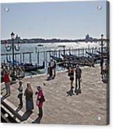 Tourists In Venice Acrylic Print