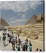 Tourists View The Great Sphinx Acrylic Print