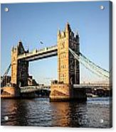 Tower Bridge And Helicopter Acrylic Print