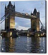Tower Bridge And River Thames At Dusk Acrylic Print