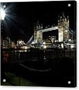 Tower Bridge And Riverside Night View  Acrylic Print