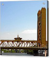 Tower Bridge Sacramento - A Golden State Icon Acrylic Print by Christine Till