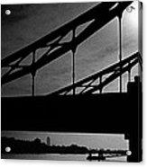 Tower Bridge Silhouette Acrylic Print