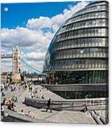 Tower Bridge With City Hall Acrylic Print