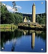 Tower Near A Lake, Round Tower, Ulster Acrylic Print
