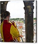 Tower Trumpeter - Prague Acrylic Print