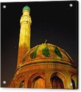 Towering Mosque In The Night Acrylic Print by Rick Frost