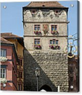Town Gate Schwarzes Tor In Rottweil Germany Acrylic Print