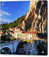 Town Of Sisteron In Provence France Acrylic Print