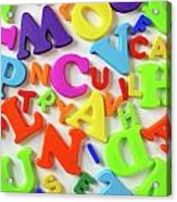 Toy Letters Acrylic Print